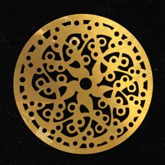 Floral Round Brass Filigree