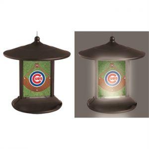 Solar Chicago Cubs Bird Feeder
