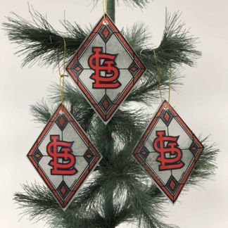 St. Louis Cardinals Art Glass Ornaments