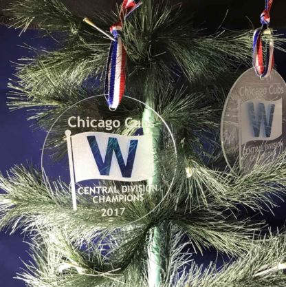 2017 Chicago Cubs Central Division Champs - Commemorative Glass Ornament