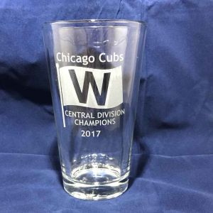 2017 Chicago Cubs Central Division Champs - Etched Pint Glass
