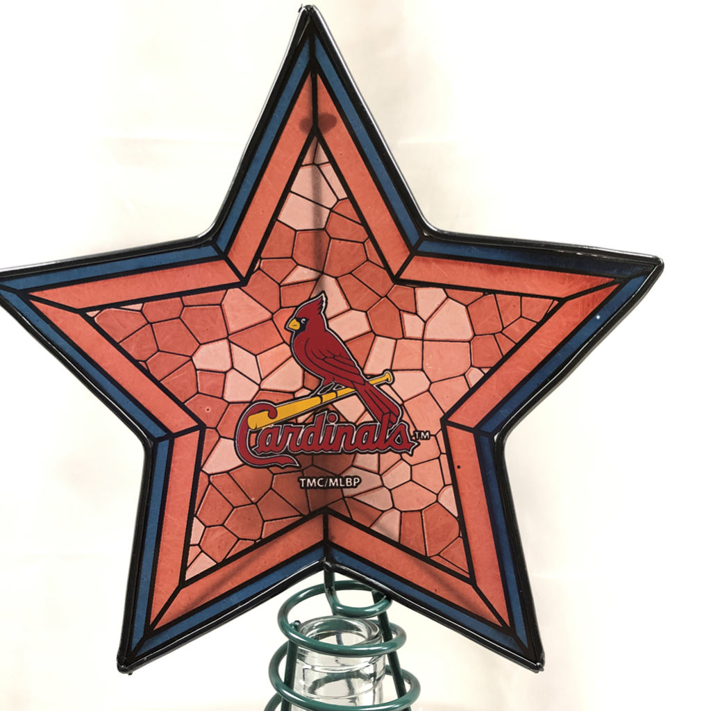 St Louis Cardinal Christmas Tree Topper Glass House Store