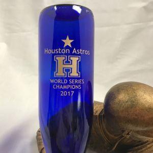 Houston Astros World Series BanVino Wine Bottle