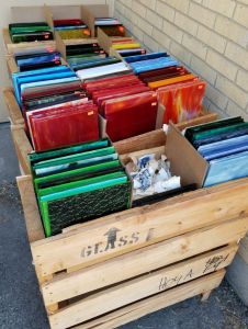 Crates of sale glass