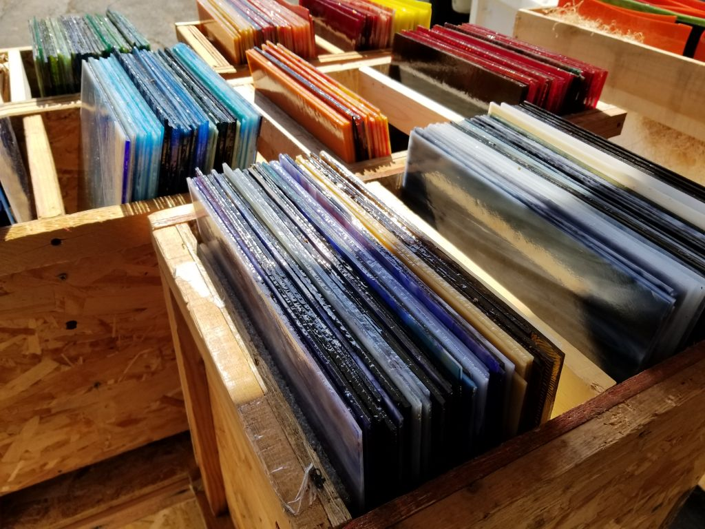 Glass by the crate - Great color assortment