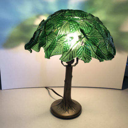 3D Glass Leaf Lamp