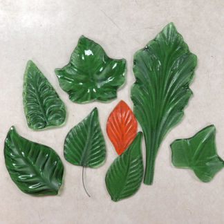 NatureScape 3D Glass Leaf Molds Examples