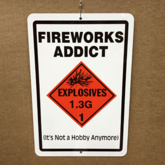 Parking Sign Fireworks Addict