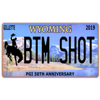 Bottom (BTM) Shot Wyoming Licence Plate