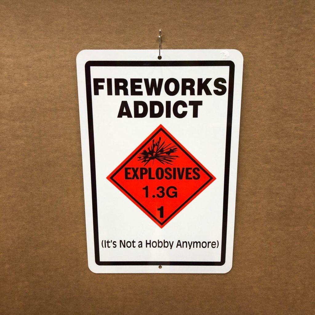 Fireworks Addict at Work