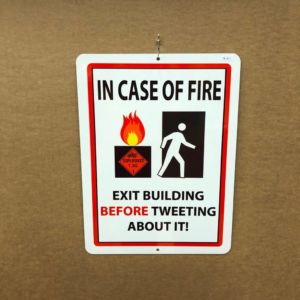 In Case of Fire - Exit Building