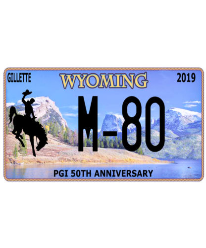 M-80 Wyoming Licence Plate