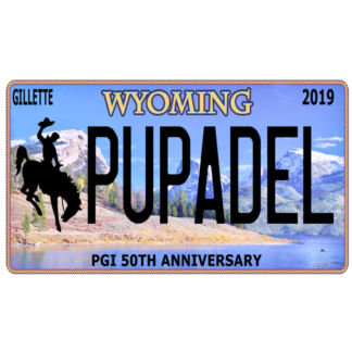 Pupadel Wyoming Licence Plate