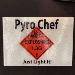 Pyro Chef Just Light It Cutting Board