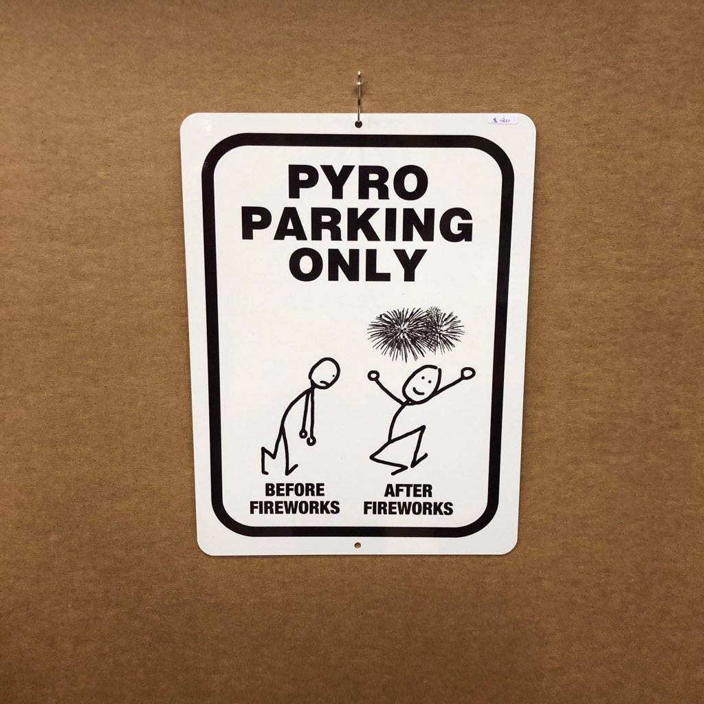 Pyro Parking Only