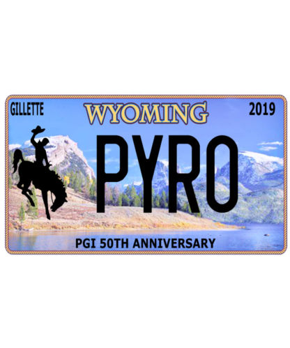 Pyro Wyoming Licence Plate