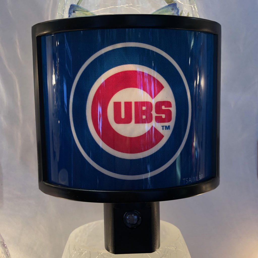 Chicago Cubs Art Glass Night Light